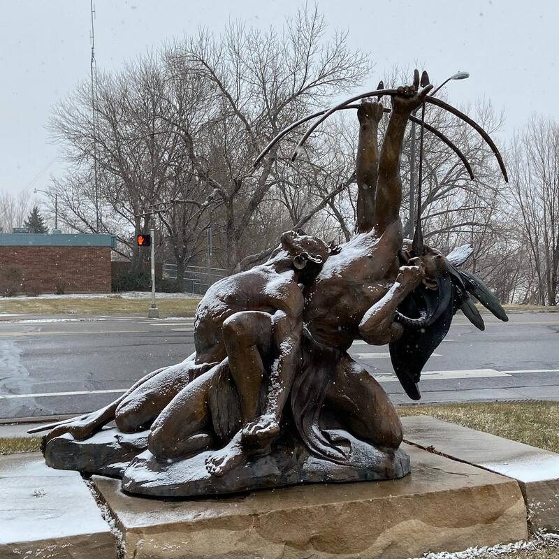 As the year nears an end, we reflect on all the great patrons who have supported our artists, especially important this year. Thank you for making art a priority in your life. #HappyNewYear  ​We love to see how snow transforms the National Sculptors' Guild sculpture garden. It makes it a little more magical.  #ColumbineGallery #SnowyColorado #quietmoments #NSG #WinterMoments #NationalSculptorsGuild #SculptureGarden #Bronze #BronzeSculpture #Stone #StoneSculpture #Steel #SteelSculpture #Sculpture #sculpturesofinstagram #InstaArtwork #ILiveLoveland #LovelandArt #LivingWithArt #ArtWorthCollecting #artofinstagram #InstaGood #SnowFallsOnSculpture #FeedYourCreativeSpirit