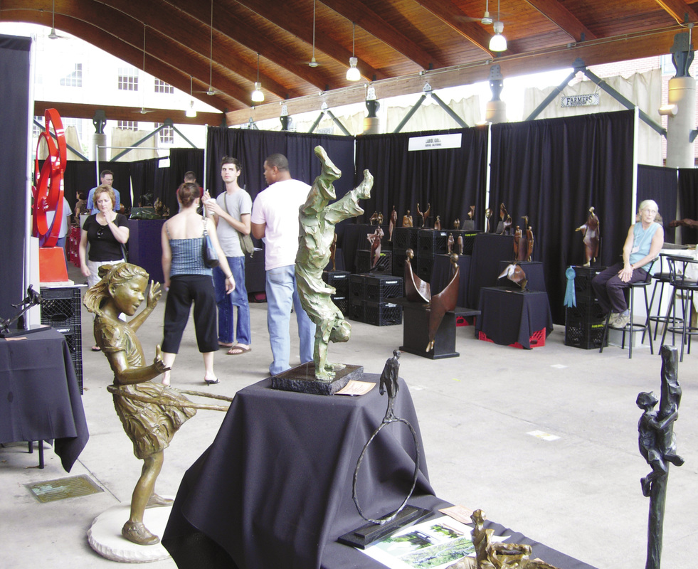 National Sculptors' Guild at Little Rock's Sculpture at the River Market Show