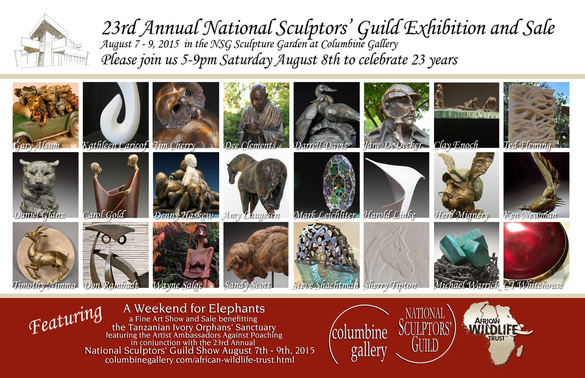 National Sculptors Guild Annual Show at Columbine Gallery this August
