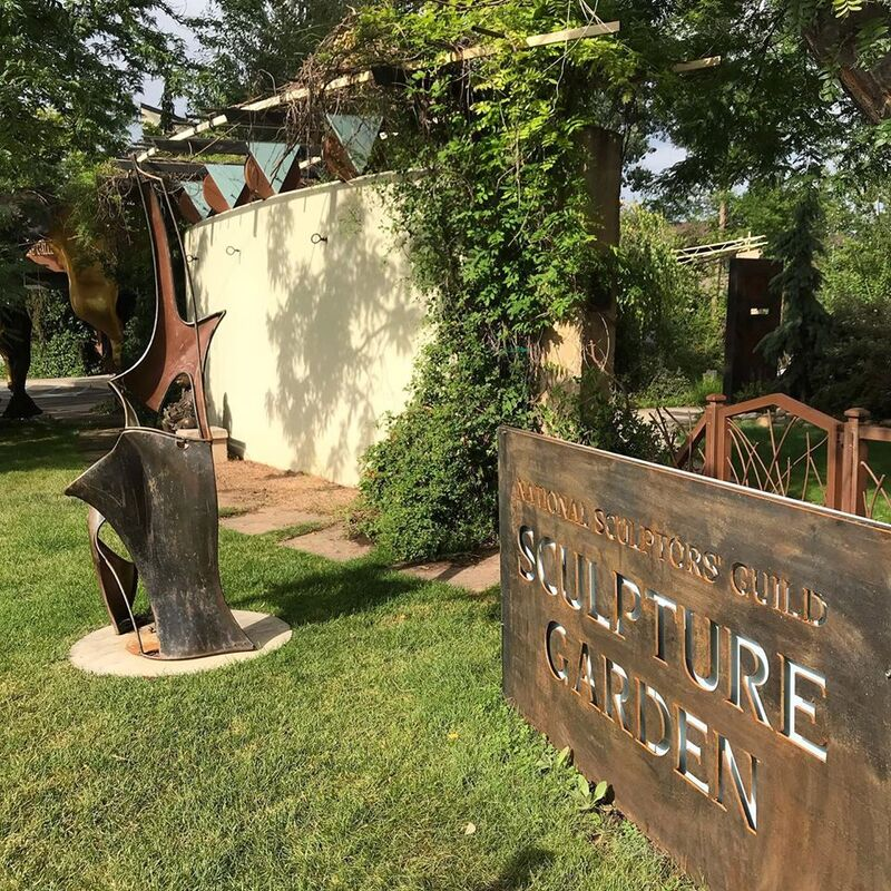 Check out all our new signage, we are especially fond of the new NSG garden sign by #sculptor Joe Norman.  We hope to see you this weekend for our 27th Annual National Sculptors' Guild Show Garden Party August 9 - 11, 2019, Exhibit continues through August 31st. . Over 45 nationally recognized artists will be on display at Columbine Gallery this August during our 27th Annual National Sculptors' Guild exhibit . NSG's 23 members will exhibit over 100 garden pieces plus smaller works in the Gallery along with 22 painters' artworks on display. . See new work and speak with your favorite artists throughout the weekend. Find the next piece to add to your collection. Special Open House Hours are 9 am to 5 pm Friday – Sunday. Artists will be available to meet with the public throughout the weekend and Artist Demonstrations will occur 1-4 pm each afternoon during the show weekend. . no admission fees, kid-friendly . located at 2683 N. Taft Ave. Loveland, Colorado (southwest of Benson Sculpture Park). #LivingWithArt #FeedYourCreativeSpirit #AnnualShow #SculptureGarden #BuyOriginal #Flare #Signage #JoeNorman #CortenSteel #SandwichBoard #Art #NSG #NationalSculptorsGuild #columbinegallery #featherflag #CantMissUs @ Columbine Gallery