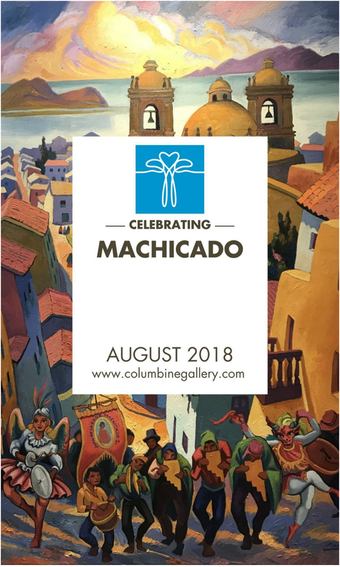 Our August feature has arrived! Over a dozen large scale #paintings by our #Peruvian #artist#JuanDeLaCruzMachicado will be displayed in the second floor #gallery through the month of #August. Add one of these #vibrant #BigPaintings to your#collection this August and we will cover shipping. See code below to order online.   Please join us during our #GardenParty August 10-12 as we celebrate our 26th #NationalSculptorsGuild#SculptureShow featuring our 22 #sculptors plus 22#painters at #ColumbineGallery.   The Ba-Nom-A-Nom #NiceCreamTruck will be in our parking lot Saturday Only August 11th from 11-2! Stop by for a refreshing #healthytreat   #ArtistDemos #FoodTruck #SoftServeFruit#ArtForYourHome #FreeShipping#FeedYourCreativeSpirit  . Enter code: BigPaintAugust to get free shipping on large-scale paintings this month, a #savings of over $500. #SalesCode #FreeShipping #ShopOnline . #BigPaintAugust #BrightenYourSpace #FineArt#Painting #Peru