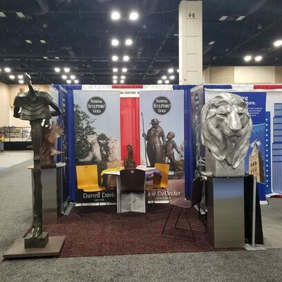 The #NationalSculptorsGuild is in #SanAntonio for the #NationalLeagueOfCities conference. We hope to see our favorite city managers and meet new. If you're here, stop by to see us. #NLCCS . Ask about how we can assist with your #PublicArt program. click here   #NSG #Sculpture by #DarrellDavis #Lion #WayneSalge #Alfred #SandyScott #PresidentialEagle #ClayEnoch #TreeOfLife #JaneDeDecker #WomensSuffrageMaquette @ San Antonio, Texas
