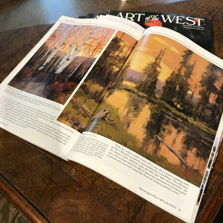 Columbine's Jean Perry is featured in the current Art of the West magazine. We just got our copies and it's stunning. Her beautiful landscapes lift off the pages, and the written word provides more depth to the imagery she creates.