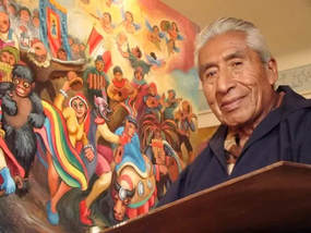 08/02/2018 UPDATE: We just learned that Juan de la Cruz passed away last night. We are turning our already planned feature exhibit of his artwork into a Tribute to Juan de la Cruz Machicado and his contributions as an artist. His gentle spirit will live on through his paintings. Any unsold paintings will be returned to Peru after the show at the family's request. We feel this may be the last chance to see his work exhibited in the US and hope you'll take advantage to view it here this August, and add a piece of this cherished artist to your collection. #CelebratingMachicado