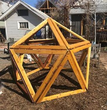 What happens when you have an engineer/artist dad (Joe Norman), a bright young girl and a 3D printer to make prototypes during a stay-in-place order? Construct a icosahedron fort! What an awesome homeschool project!!  We've got our eyes on Abby, she's going places already.   ​From Joe: